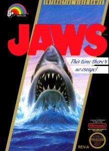Jaws NES box art