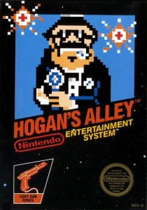 Hogan's alley NES boxart