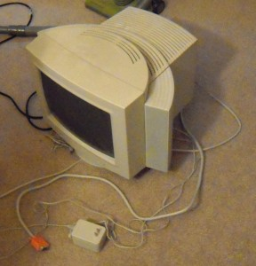 (old voice) Back in my day, we had to lug this thing around... AND the computer!