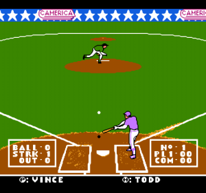 A weirdly muddy screenshot of baseball.