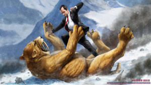"Googling ""Action Fighter"" got me this image of Richard Nixon fighting a sabertooth cat. Honestly, this should have been the box art, it makes about as much sense."